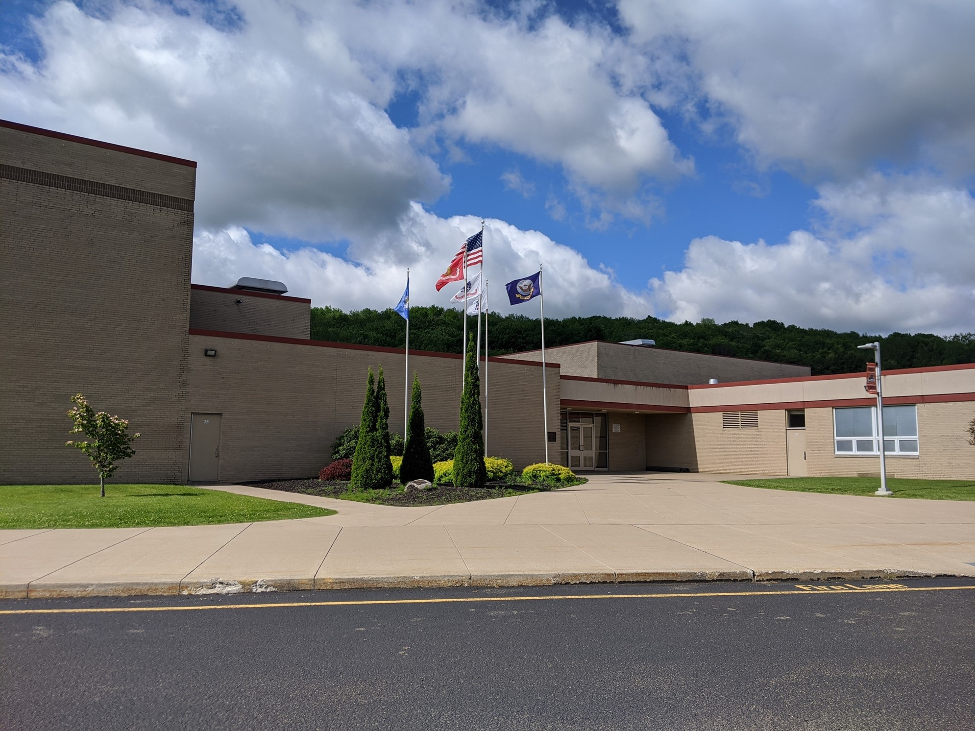 Corry Area Middle High School Five flags