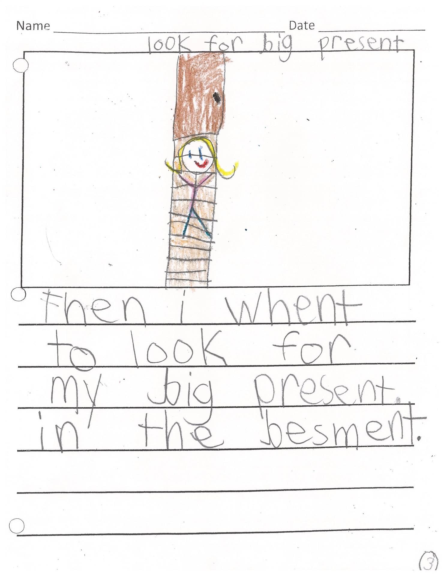 2nd Grade Writing Sample