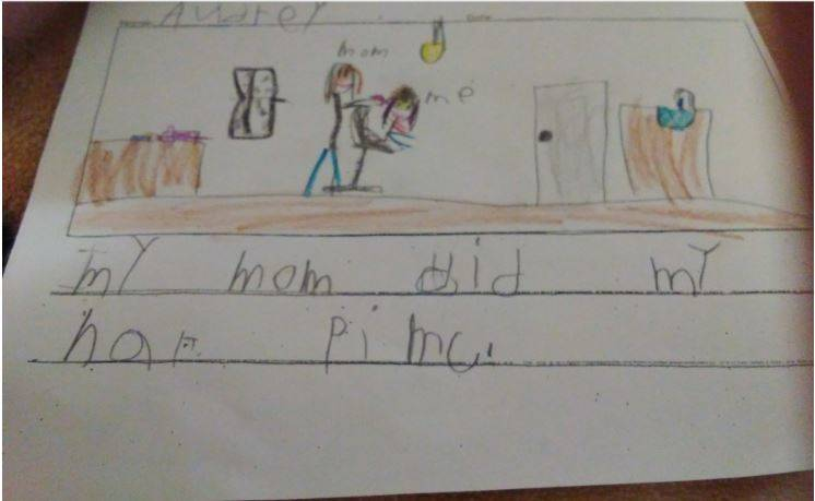 Kindergarten Grade Writing Sample